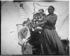 Ojibwe mother and child.