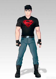 Superboy YJ by shamserg on DeviantArt Dc Comics Heroes, Dc Comics Art, Comic Book Heroes, Marvel Dc Comics, Comic Books Art, Mundo Superman, Superman Art, Superman Family, Supergirl