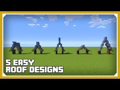 Minecraft: How To Build a Roof Design Tutorial (Easy Survival Minecraft) - YouTube