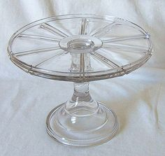 Wagon Wheel Design Cake Stand – Ca. 1900 - would make a great cake stand for Pioneer Day