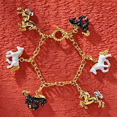 Daniel-Lyons-Horse-Charm-Bracelet
