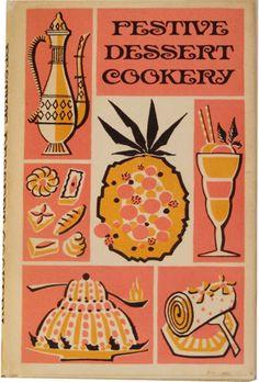 Orange + Pink •~• vintage Festive Dessert Cookery cookbook