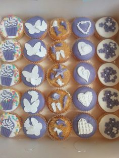Paarse cupcakes