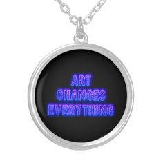 Art Changes Everything Silver Plated Necklace - accessories accessory gift idea stylish unique custom