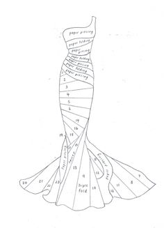 modèle carte iris :robe Evening Dress, would be nice to have a figure like… Iris Folding Templates, Iris Paper Folding, Iris Folding Pattern, Pattern Cutting, Pattern Drafting, Pattern Making, Sewing Tutorials, Sewing Hacks, Sewing Projects
