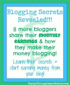 Awesome - Bloggers who are earning $1,000s each month share their pageviews and how they make their money!!! -  How Much Money Can a Blogger Earn? (part 3) (scheduled via http://www.tailwindapp.com?utm_source=pinterest&utm_medium=twpin&utm_content=post84773731&utm_campaign=scheduler_attribution)