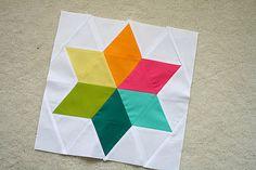 Six-Pointed Star block by freshlypieced, via Flickr