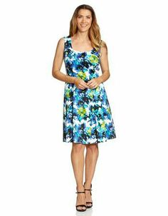 c5d168103cb Kailey Floral Fit  amp  Flare Dress Simple Dresses
