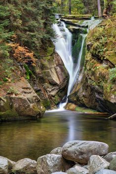 Szklarki waterfall in Poland by Lena Serditova on 500px