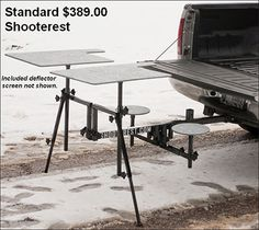 Shooterest shooting bench hitch mounted