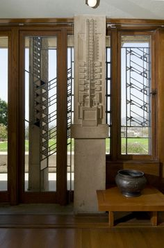 Aline Barnsdall Hollyhock House, East Hollywood, California, 1919–1921. Frank Lloyd Wright Mayan Style/ Textile Block Period