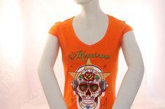 Un ejemplo de nuestro trabajo de estampación digital en camisetas.