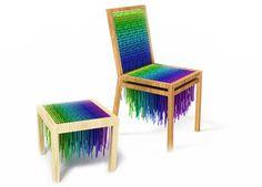 Brazilian studio Baita Design.. series of seating furniture called Wool.