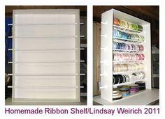foam core ribbon shelf