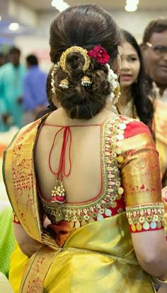 Bridal Saree Blouse Designs Latest 43 New Ideas - Bridal Saree Blouse Designs L. - Bridal Saree Blouse Designs Latest 43 New Ideas – Bridal Saree Blouse Designs L… – Bridal S - Wedding Saree Blouse Designs, Saree Blouse Neck Designs, Saree Blouse Patterns, Fancy Blouse Designs, Wedding Blouses, Wedding Sarees, Blouse For Silk Saree, Blue Silk Saree, Marathi Wedding