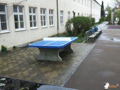 Pingpongtafel Afgerond Blauw bij Pestalozzi-Schule, SFZ in Fürstenfeldbruck
