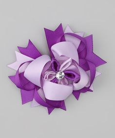 Take a look at this Purple Sparkle Bow Clip by Sweet Treat Bows on #zulily today!