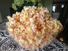 """Colored Popcorn {Pink} Naturally Gluten-Free!  {{{Make blue popcorn for a """"Frozen"""" party! }}}"""