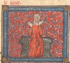 Roman de la Rose @RoseDigLib  ·   Hate raged in the centre, scowling, her beastly body wrapped in toweling. #RoseRom  Image from @walters_museum W143
