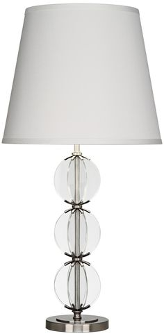 Robert Abbey Latitude Clear Glass Antique Nickel Table Lamp -