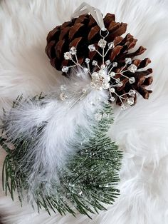 Excited to share the latest addition to my #etsy shop: Christmas tree decor,Snowflake feather winter decorations,Glass crystal pearl Swarovski and Preciosa star ornaments, Winter wedding favors #homedecor #housewares #silver #white #christmas #tree #decorations #decor #christmastree #christmasornaments #snowflake http://etsy.me/2hKjk4c