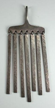 Hans Hansen Denmark Sterling Silver Kinetic Pendant