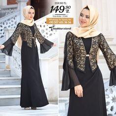 Hijab Evening Dress – Black Dress it is to Hijab Dress Party, Party Wear Dresses, Arab Fashion, Muslim Fashion, Dress Batik Kombinasi, Dress Brokat, Batik Fashion, Muslim Dress, Mode Chic