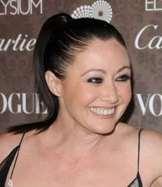 Shannen Dohertys ponytail hairstyle