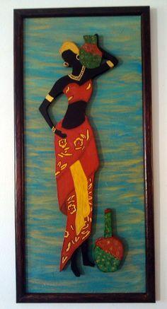 Wall Art Wallpaper, Mural Wall Art, Hanging Wall Art, Arte Tribal, Tribal Art, African Quilts, Clay Wall Art, Clay Art, African Art Paintings