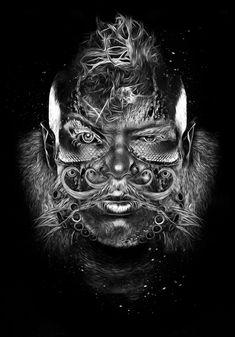 FANTASMAMGORIK® COMIK FACES 2 by obery nicolas, via Behance