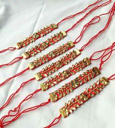 Handmade Rakhi Designs, Rakhi Making, Happy Rakshabandhan, Gold Jewelry, Jewellery, Indian Jewelry, Fabric Flowers, Holiday Crafts, Embroidery Designs