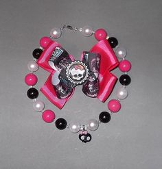 Kids Monster High Inspired Chunky Bubblegum Necklace & by Suzyq203, $22.50