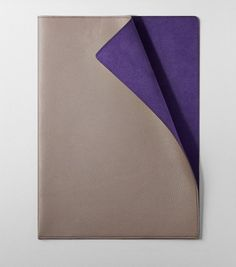 Single Leather Folder in taupe
