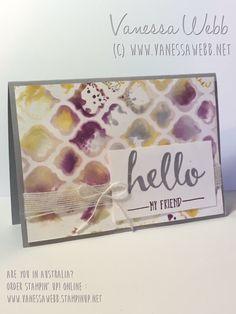 Tie-Dye technique VIDEO.....Vanessa Webb – Independent Stampin'Up! Demonstrator