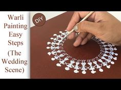 This week let's learn to make a simple and beautiful warli wedding scene. Warli painting is a style of tribal art. Maharashtra is known for its Warli folk pa. Worli Painting, Block Painting, Indian Art Paintings, Canvas Paintings, Abstract Paintings, Pottery Painting Designs, Madhubani Art, Indian Folk Art, Wedding Scene