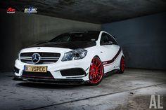 #Mercedes_Benz_A45_AMG X Fi #exhaust X #Revozport Mercedes Benz A45 Amg, Classe A Amg, Vehicle Wraps, Car Wrap, Super Cars, Bmw, Vehicles, Rolling Stock, Vehicle