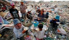 Life in Cambodia - this is pretty much what people must resort to in order to survive – searching through trash all day long :(