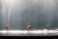 Great stage design: Xóchitl González Quintanilla Ex-Stasis Set Design Theatre, Stage Design, Stage Lighting Design, Bühnen Design, Plastic Curtains, Plastic Sheets, 3d Fantasy, Theatre Stage, Stage Set