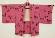 young woman Haori - butterfly design