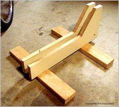 Wood DIY bike stand