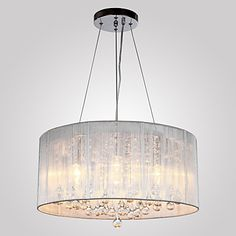 Chandeliers Crystal Traditional/Classic Living Room/Bedroom/Dining Room/Study Room/Office/Entry/Hallway Metal – USD $ 176.99
