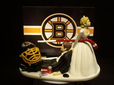 Hockey Sports Team BOSTON BRUINS Bride and Groom by mikeg1968