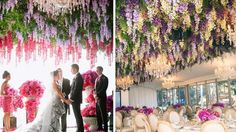 plafond floral mariage