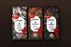 ¡Buenos días y gran inicio de semana a todos! :) Precioso #Packaging de Amato Coffee.