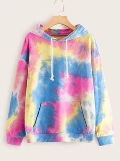 [pi n_description] tie dye Tie Dye Shirts, Tie Dye Sweatshirt, Diy Tie Dye Hoodie, Diy Shirt, Band Shirts, Stylish Hoodies, Tie Dye Fashion, Tie Dye Colors, Tie Dye Outfits