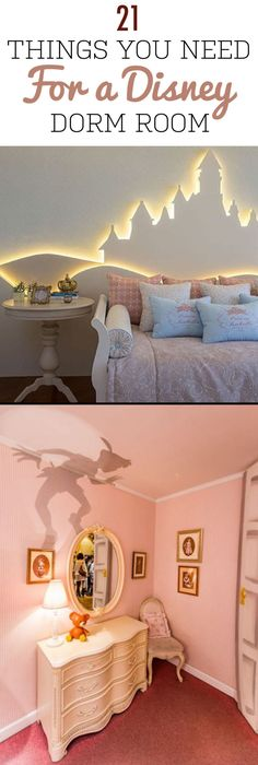 21 Things You Need for a Disney Dorm Room. 21 Things You Need for a Disney Dorm Room - Everything you need for a magical Disney dorm room! If you want to decorate your dorm or apartment with Disney decor, check out these awesome options! Disney Diy, Casa Disney, Deco Disney, Disney Home Decor, Disney Room Decorations, Disney Mural, Diy Home Decor For Apartments, Rooms Home Decor, Decor Room