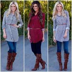 """Womens Boutique / Daily Deals on Instagram: """"Gingham [ging-uh m] 1. yarn-dyed, plain-weave cotton fabric, usually striped or checked.  But really, all that matters is that you can find this tunic dress on Jane.com tonight at midnight MST """""""
