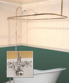 clawfoot tub and shower package. Clawfoot Tub Wall Mount Shower Enclosure Combo W  British Telephone Faucet Classic Randolph Morris 54 Inch Acrylic And Package