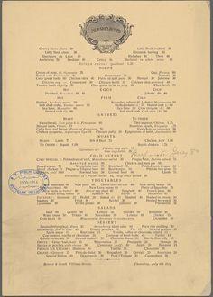 Delmonico's, 1914 vs. 2014 | What NYC Restaurant Menus Looked Like 100 Years Ago Vs. Today
