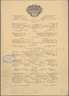 Delmonico's, 1914 vs. 2014 | What NYC Restaurant Menus Looked Like 100 Years Ago Vs. Today
